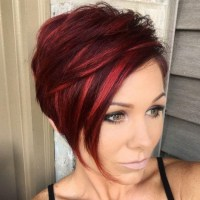 Short Hair With Red Highlights