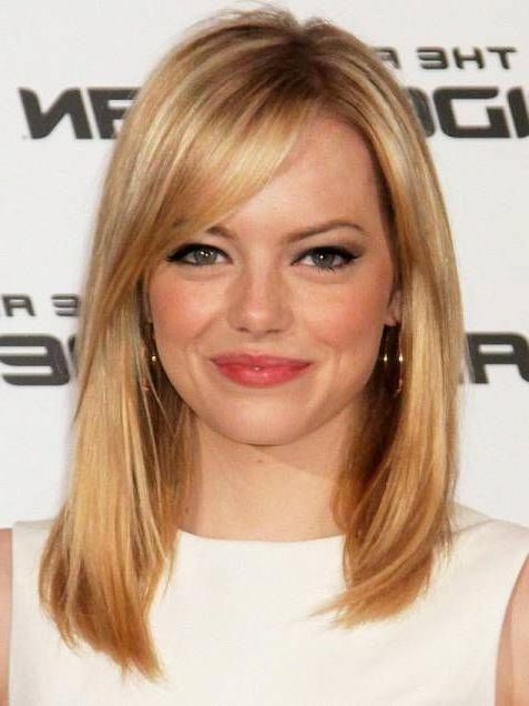 30 Long Bangs With Shoulder Length Hairstyles 2018 Hairstyles