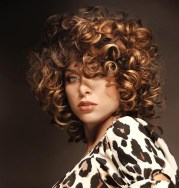 of big curls short hairstyles