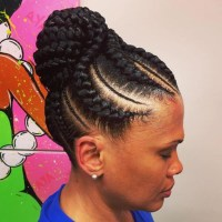 Photo Gallery of African Hair Braiding Updo Hairstyles ...