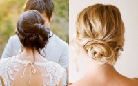2018 Latest Low Bun Updo Wedding Hairstyles
