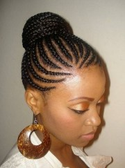 2019 latest cornrow updo hairstyles