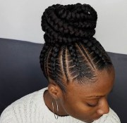 ideas of braided bun updo