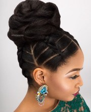 collection of black hair updo