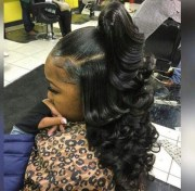 ideas of sew in updo hairstyles