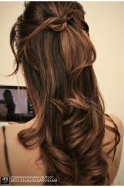 ideas of partial updo hairstyles