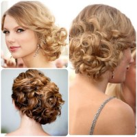 15 Inspirations of Curly Bun Updo Hairstyles