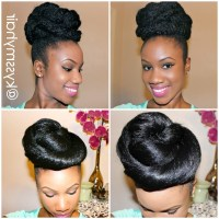 15 Collection of Natural Hair Updo Hairstyles With ...