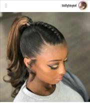 of black ponytail updo