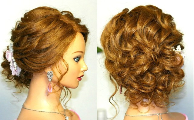 15 Best Ideas of Curly Updos  For Medium Hair