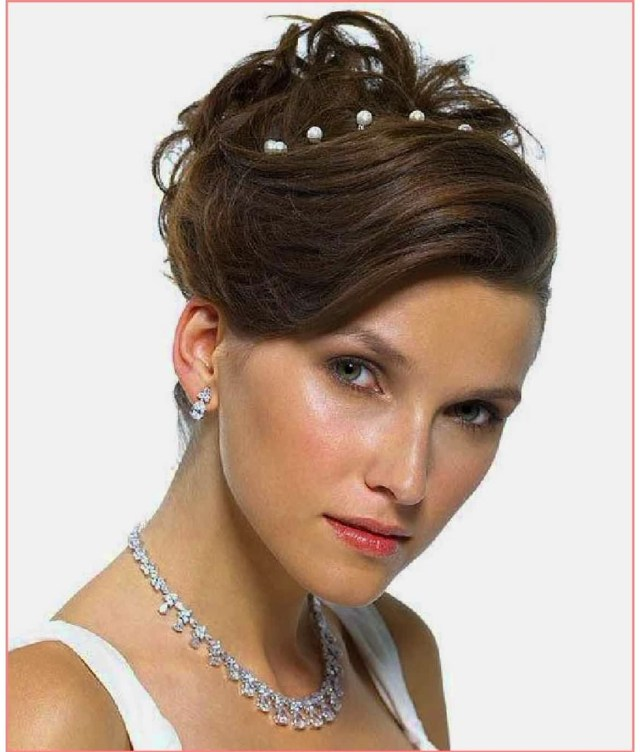 photo gallery of wedding hairstyles for short hair and round
