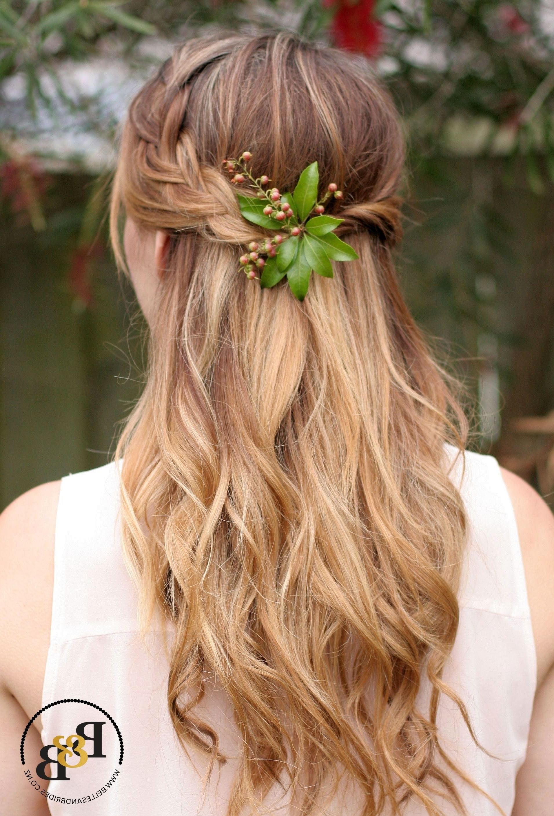 15 Ideas of Half Up Half Down With Braid Wedding Hairstyles