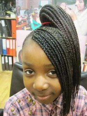 2019 latest black girl braided