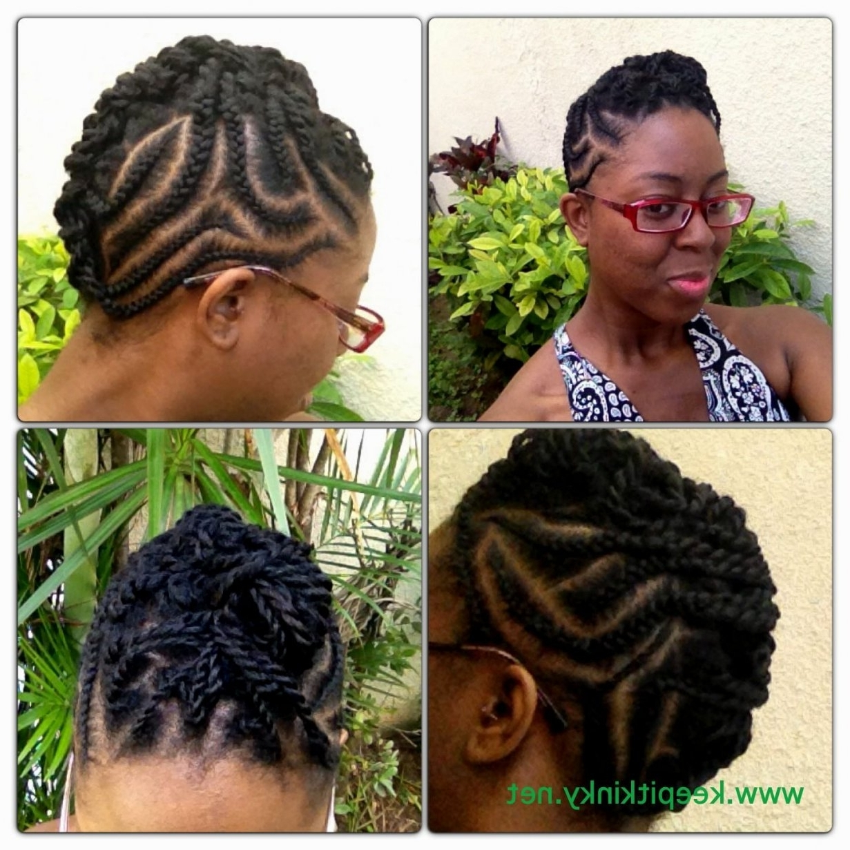 15 Best Ideas of Cornrows Hairstyles For Short Natural Hair