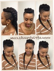 straight hairstyles with braids