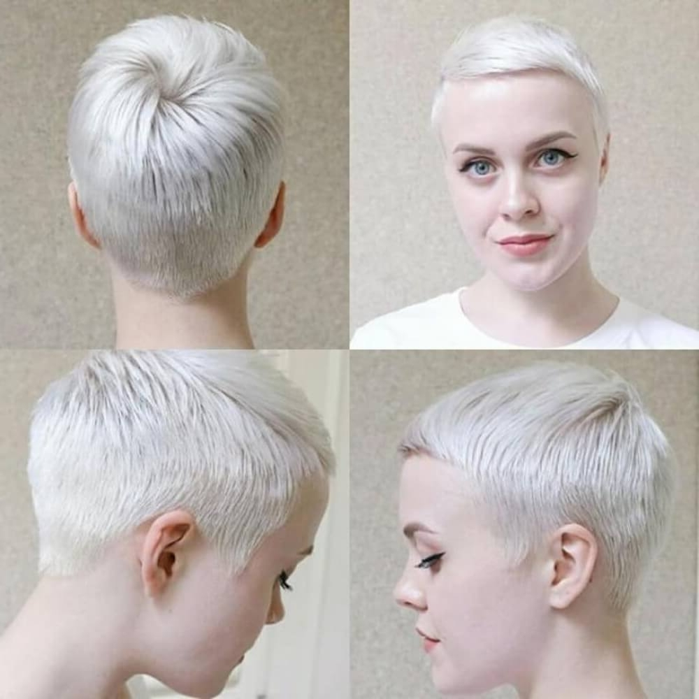 2019 Popular Platinum Pixie Hairstyles