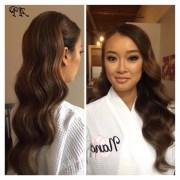 of retro glam ponytail