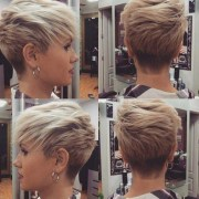 of tapered gray pixie