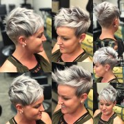 ideas of gray pixie hairstyles