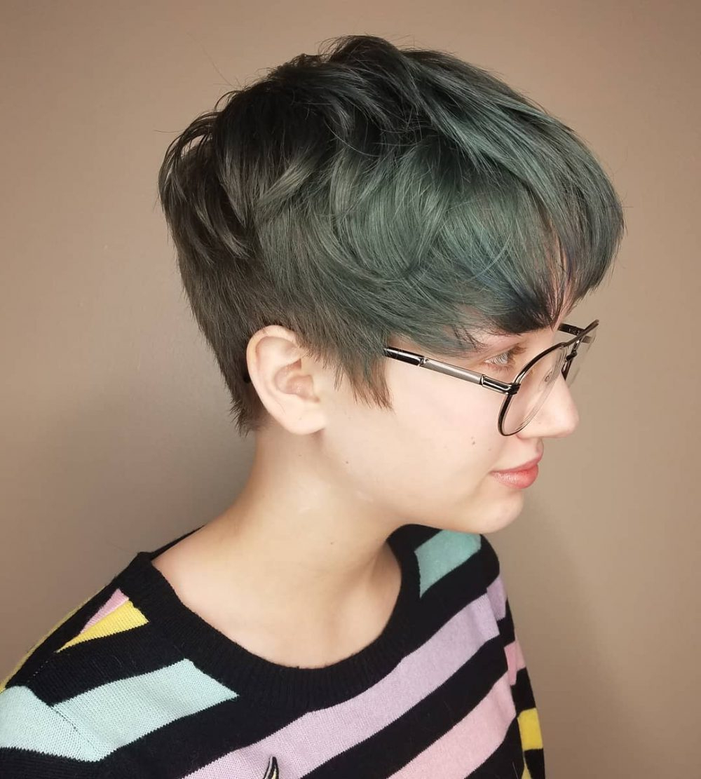 20 Photo of Gray Pixie Hairstyles For Thick Hair
