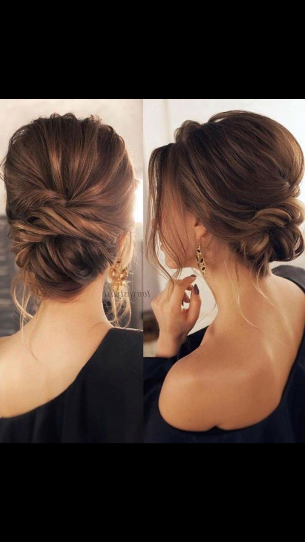 hair updos low bun