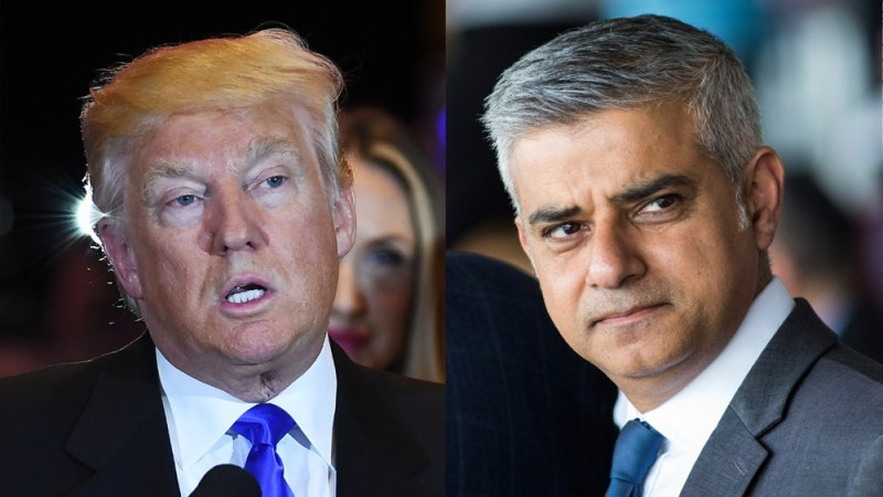 Trump just called London Mayor Sadiq Khan a 'stone cold loser'