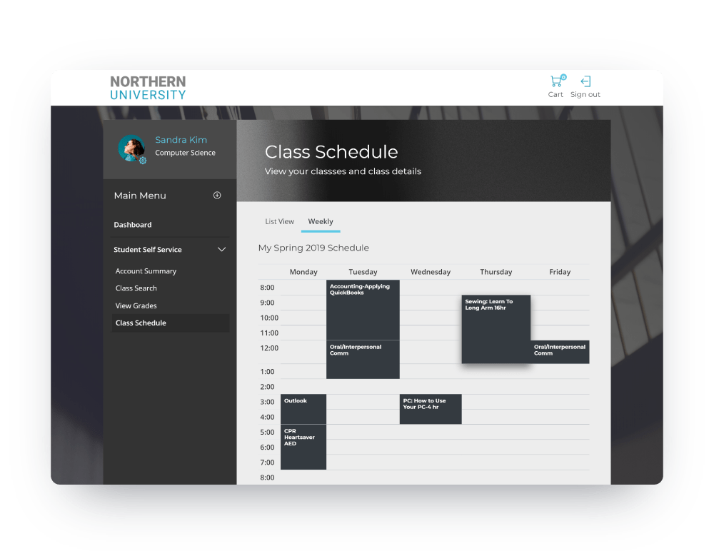 Schedule Screen