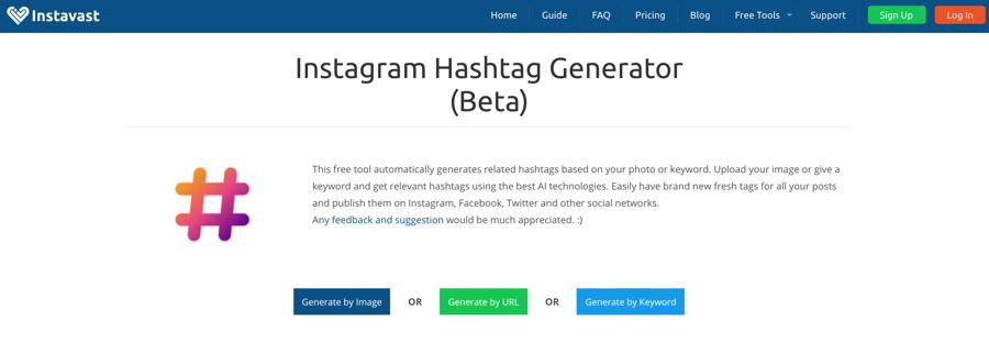 instavast générateur de hashtag instagram