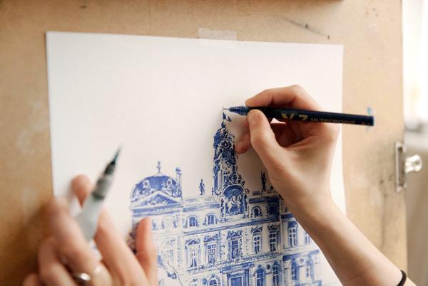 influences concept store lyon decoration boutique dessin croquis monument audrey apruzzese