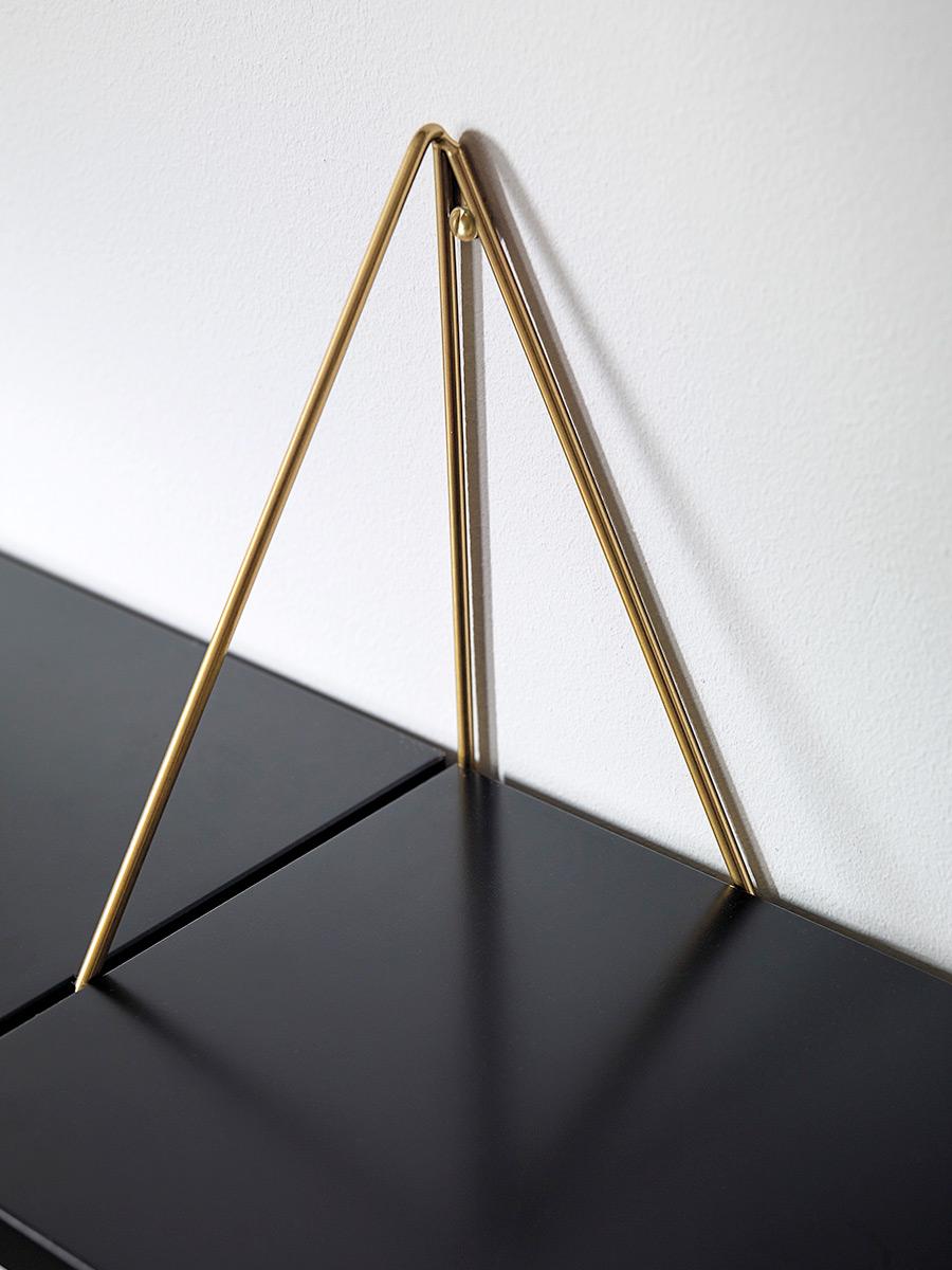 2 equerres metal graphique pour etagere pythagoras