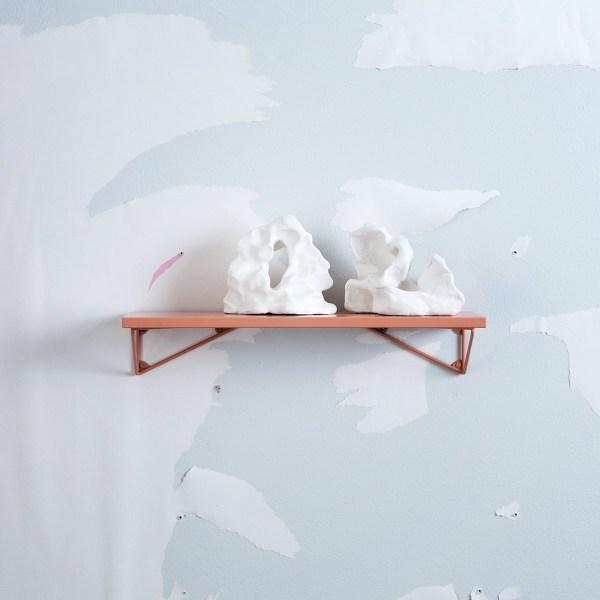 Petite étagère murale dusty abricot Pythagoras XS
