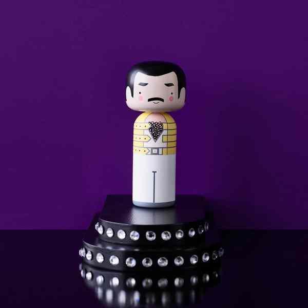 Figurine bois Freddie Mercury, Lucie Kaas