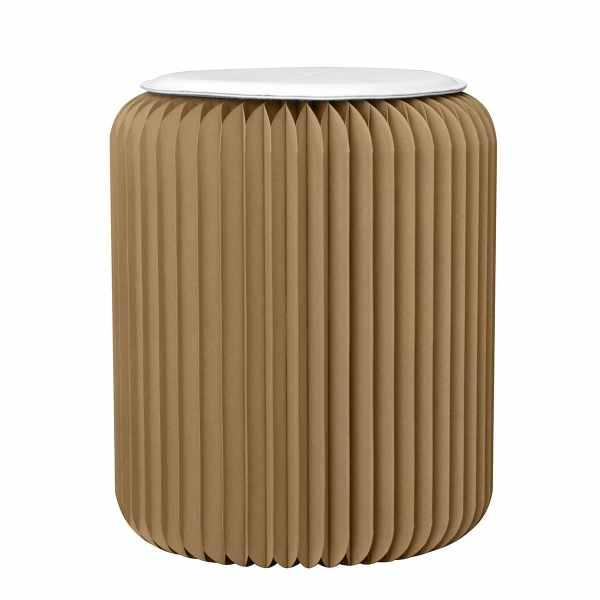 Petit tabouret pliable en carton stooly design brun