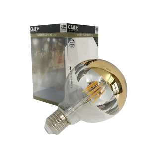 Ampoule filament led, calotte miroir or doré, dimmable