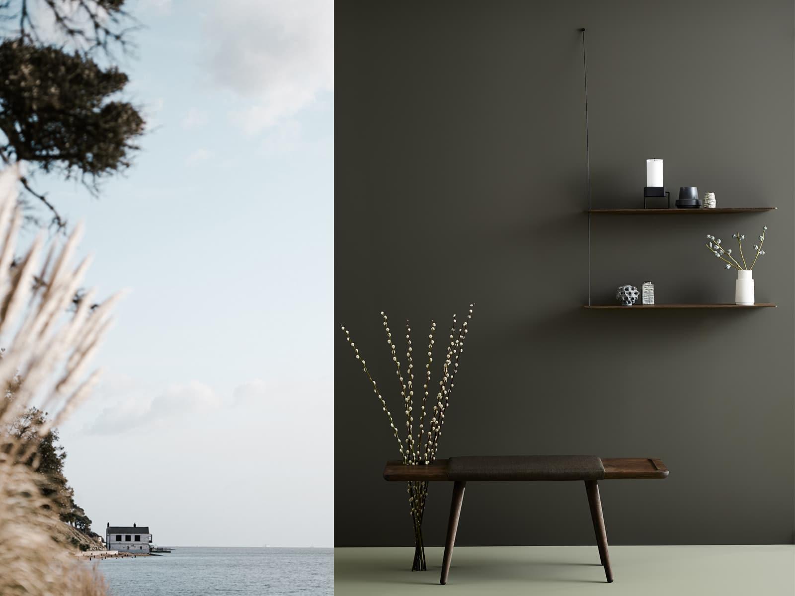 etagere minimaliste chene fonce WOUD design scandinave
