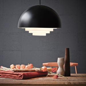 Suspension demi sphère, Motown noir Belid Herstal, design scandinave