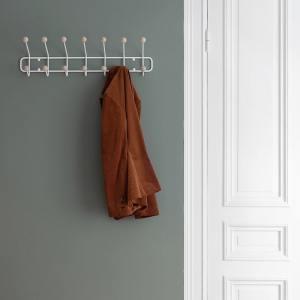 Porte manteau style ancien boule bois Maze, scandinave écoresponsable