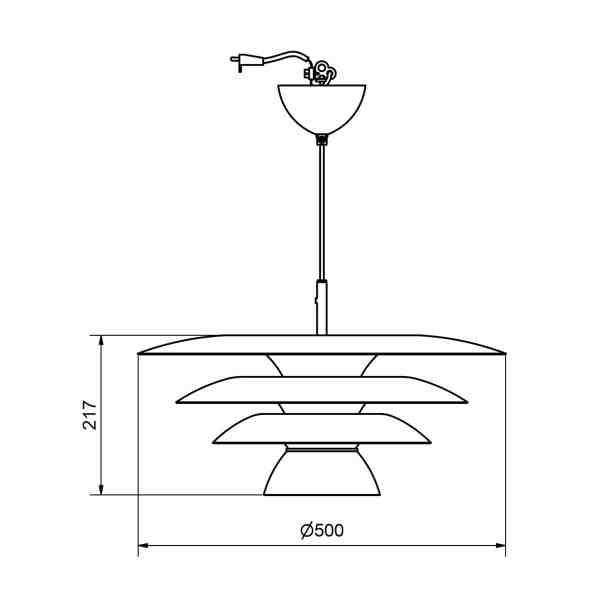 Suspension en métal Da Vinci design scandinave minimaliste et graphique dimension belid