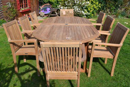 wooden patio furniture brings comfort