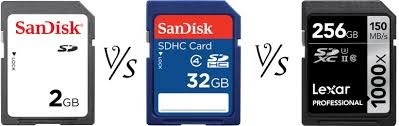 What is difference between micro SD, and micro SDHC and micro SDXC cards?
