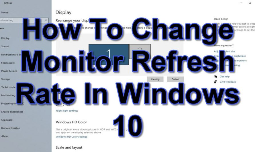 How to Change Your Monitor Refresh Rate in Windows 10