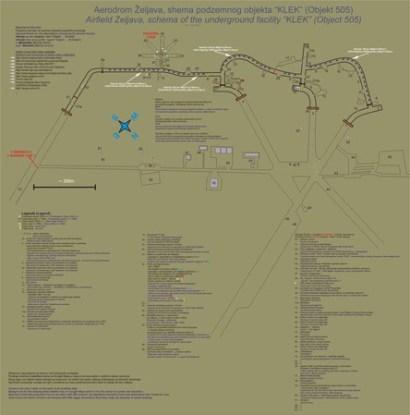 Подробная схема поземной авиабазы, составленная современными энтузиастами-исследователями...
