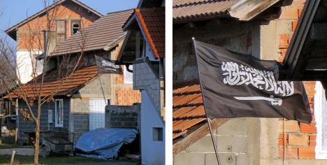 Флаг ИГИЛ в ваххабиском селе Ошве (Босния)