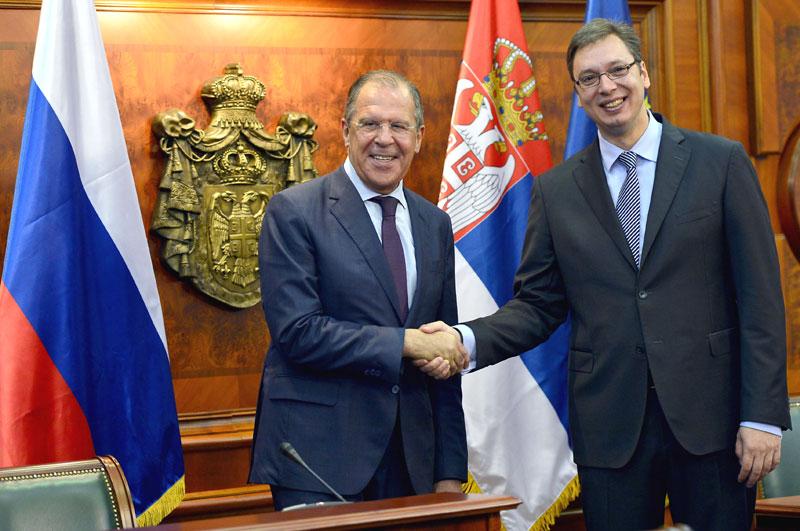 Встреча премьера Сербии Вучича и Лаврова