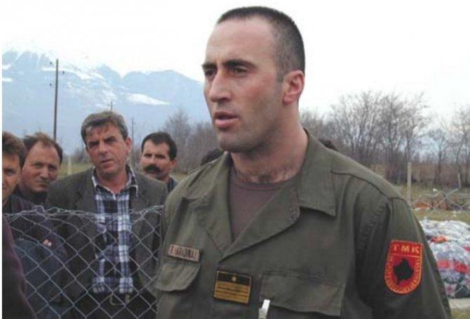 Военный преступник Харадинай получил поддержку от Единой России