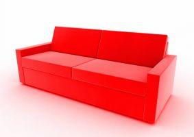 rotes schönes Sofa