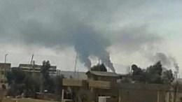 Christen-Sieldungen im Norden Syrien in Brand gesetzt. Foto: aina.org