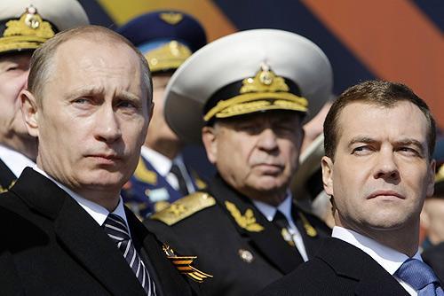 Putin Medwedew 051015