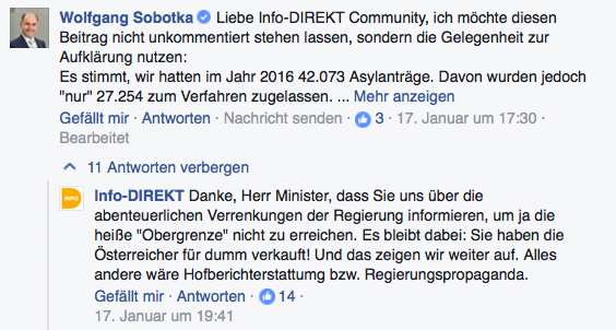 Screenshot: Info-DIREKT; Facebook