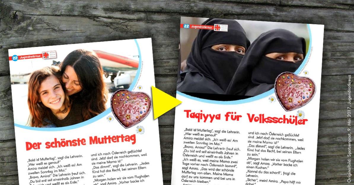 Artikel der schönste Muttertag aus Spatzenpost Mai 2017, Österreichisches Jugendrotkreuz